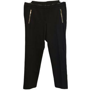 Anne Klein Trouser Pants Black Size 8 Slim Leg